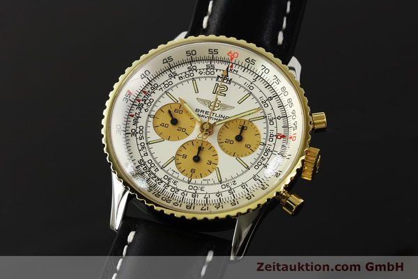 Used luxury watch Breitling Navitimer chronograph steel / gold manual winding Kal. LWO 1873 Ref. 81600  | 142540 04