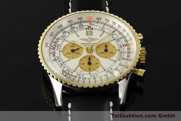Used luxury watch Breitling Navitimer chronograph steel / gold manual winding Kal. LWO 1873 Ref. 81600  | 142540 14