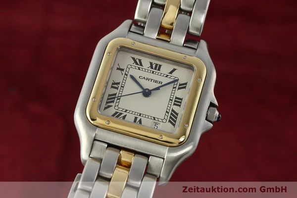 Used luxury watch Cartier Panthere steel / gold quartz Ref. PL101081100  | 142541 04