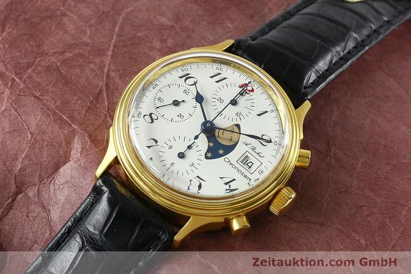Used luxury watch Chronoswiss A. Rochat chronograph gold-plated automatic Kal. Valj. 7750 Ref. 77.400  | 142551 01