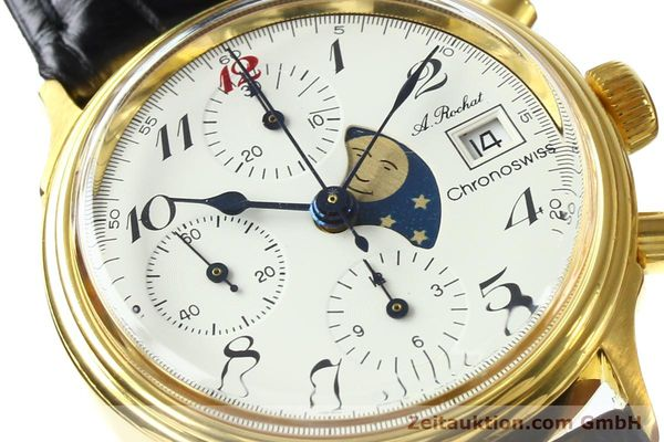 Used luxury watch Chronoswiss A. Rochat chronograph gold-plated automatic Kal. Valj. 7750 Ref. 77.400  | 142551 02