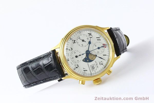 Used luxury watch Chronoswiss A. Rochat chronograph gold-plated automatic Kal. Valj. 7750 Ref. 77.400  | 142551 03