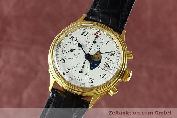 Used luxury watch Chronoswiss A. Rochat chronograph gold-plated automatic Kal. Valj. 7750 Ref. 77.400  | 142551 04