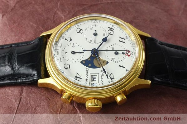 Used luxury watch Chronoswiss A. Rochat chronograph gold-plated automatic Kal. Valj. 7750 Ref. 77.400  | 142551 05