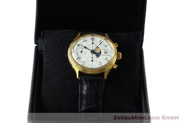 Used luxury watch Chronoswiss A. Rochat chronograph gold-plated automatic Kal. Valj. 7750 Ref. 77.400  | 142551 07