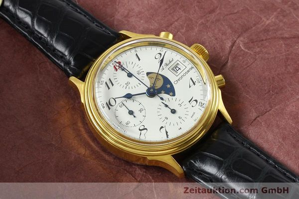 Used luxury watch Chronoswiss A. Rochat chronograph gold-plated automatic Kal. Valj. 7750 Ref. 77.400  | 142551 13