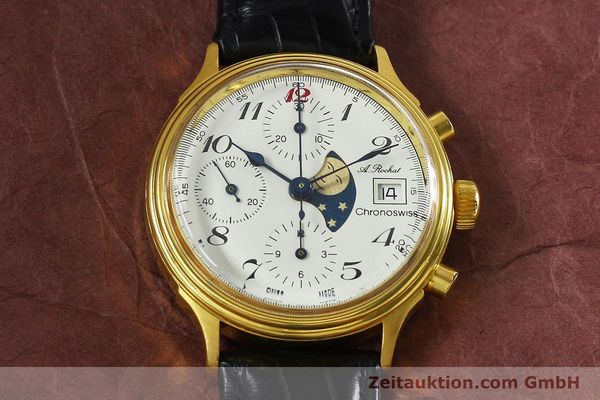 Used luxury watch Chronoswiss A. Rochat chronograph gold-plated automatic Kal. Valj. 7750 Ref. 77.400  | 142551 14