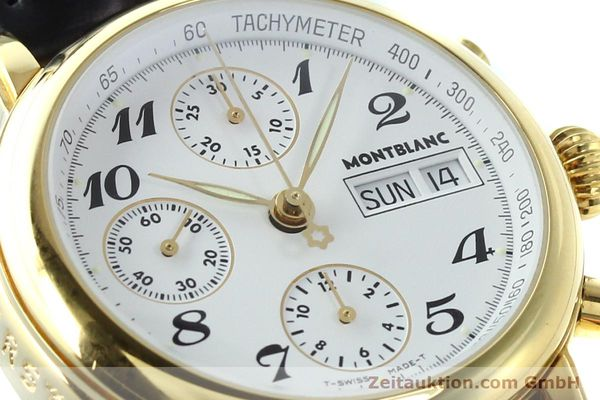 Used luxury watch Montblanc Meisterstück chronograph gold-plated automatic Kal. 4810501 ETA 7750 Ref. 7001  | 142553 02