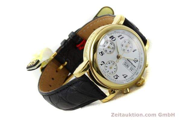 Used luxury watch Montblanc Meisterstück chronograph gold-plated automatic Kal. 4810501 ETA 7750 Ref. 7001  | 142553 03