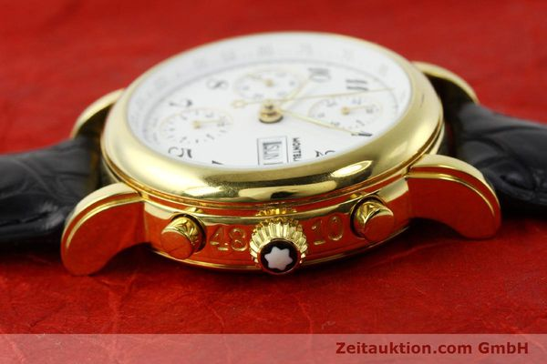 Used luxury watch Montblanc Meisterstück chronograph gold-plated automatic Kal. 4810501 ETA 7750 Ref. 7001  | 142553 05