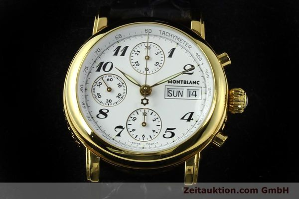 Used luxury watch Montblanc Meisterstück chronograph gold-plated automatic Kal. 4810501 ETA 7750 Ref. 7001  | 142553 07