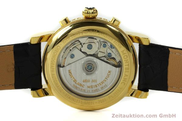 Used luxury watch Montblanc Meisterstück chronograph gold-plated automatic Kal. 4810501 ETA 7750 Ref. 7001  | 142553 10