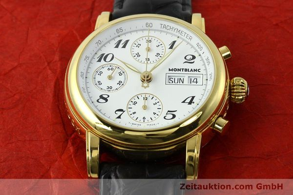 Used luxury watch Montblanc Meisterstück chronograph gold-plated automatic Kal. 4810501 ETA 7750 Ref. 7001  | 142553 13