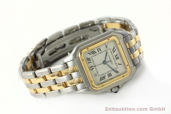 montre de luxe d occasion Cartier Panthere acier / or  quartz Kal. 87.06  | 142560 03