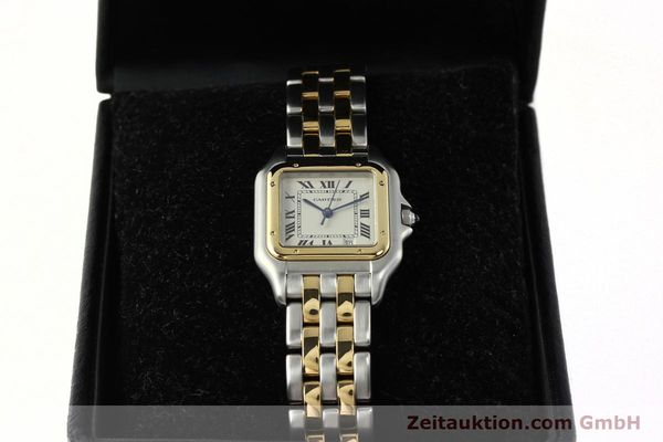 montre de luxe d occasion Cartier Panthere acier / or  quartz Kal. 87.06  | 142560 07
