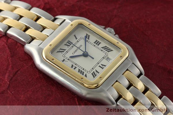 montre de luxe d occasion Cartier Panthere acier / or  quartz Kal. 87.06  | 142560 12