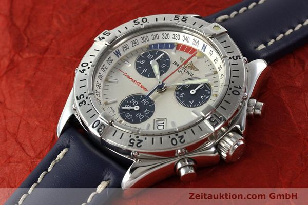 Used luxury watch Breitling Transocean chronograph steel quartz Kal. B53 Ref. A53040.1  | 142564 01