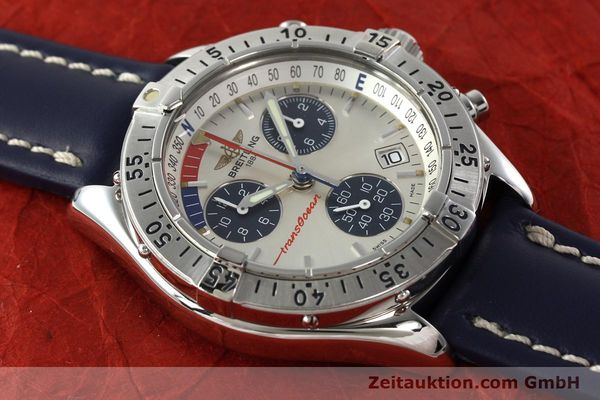 Used luxury watch Breitling Transocean chronograph steel quartz Kal. B53 Ref. A53040.1  | 142564 12