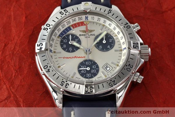 Used luxury watch Breitling Transocean chronograph steel quartz Kal. B53 Ref. A53040.1  | 142564 13