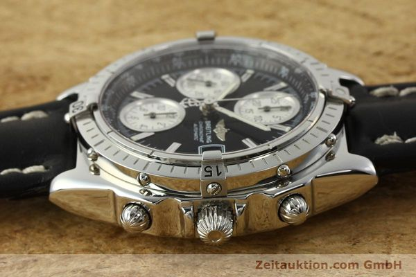 Used luxury watch Breitling Chronomat chronograph steel automatic Kal. B13 ETA 7750 Ref. A13050.1  | 142565 05