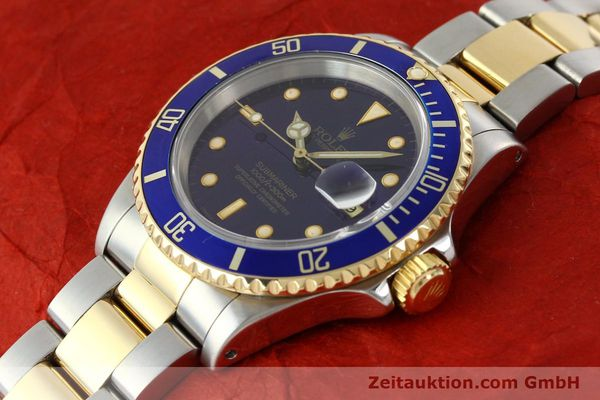 Used luxury watch Rolex Submariner steel / gold automatic Kal. 3135 Ref. 16613  | 142572 01