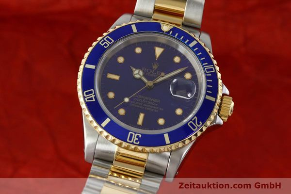 Used luxury watch Rolex Submariner steel / gold automatic Kal. 3135 Ref. 16613  | 142572 04