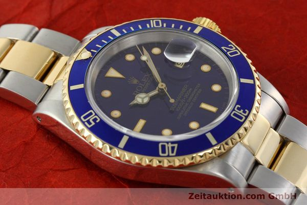 Used luxury watch Rolex Submariner steel / gold automatic Kal. 3135 Ref. 16613  | 142572 15