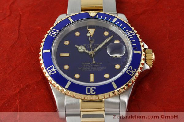 Used luxury watch Rolex Submariner steel / gold automatic Kal. 3135 Ref. 16613  | 142572 16