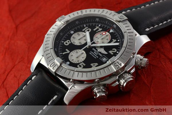 Used luxury watch Breitling Avenger chronograph steel automatic Kal. B13 ETA 7750 Ref. A13370  | 142576 01