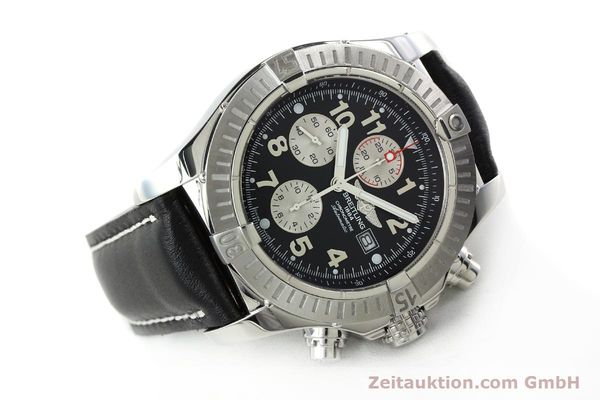 Used luxury watch Breitling Avenger chronograph steel automatic Kal. B13 ETA 7750 Ref. A13370  | 142576 03