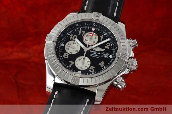 Used luxury watch Breitling Avenger chronograph steel automatic Kal. B13 ETA 7750 Ref. A13370  | 142576 04