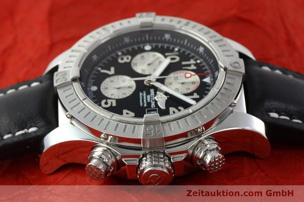 Used luxury watch Breitling Avenger chronograph steel automatic Kal. B13 ETA 7750 Ref. A13370  | 142576 05