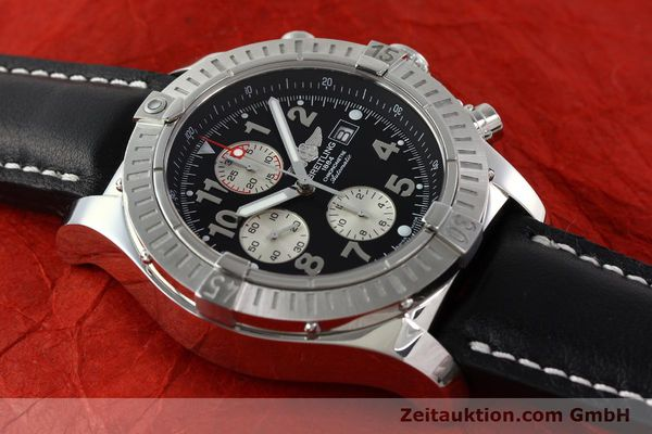 Used luxury watch Breitling Avenger chronograph steel automatic Kal. B13 ETA 7750 Ref. A13370  | 142576 14
