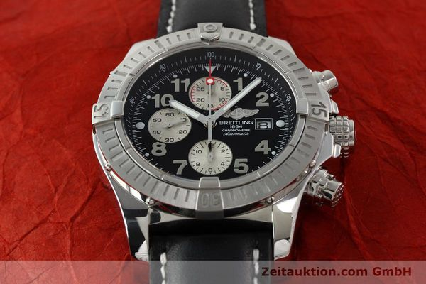 Used luxury watch Breitling Avenger chronograph steel automatic Kal. B13 ETA 7750 Ref. A13370  | 142576 15