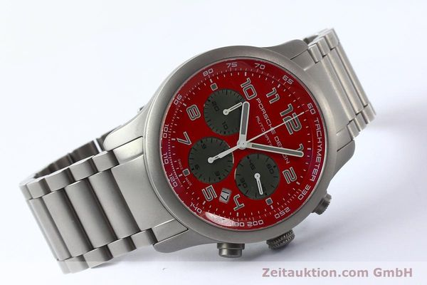 Used luxury watch Porsche Design Dashbord chronograph titanium automatic Kal. ETA 2894-2 Ref. 6612.10/2  | 142580 03