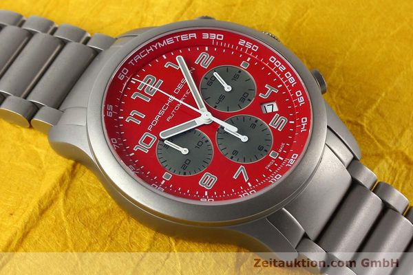 Used luxury watch Porsche Design Dashbord chronograph titanium automatic Kal. ETA 2894-2 Ref. 6612.10/2  | 142580 14