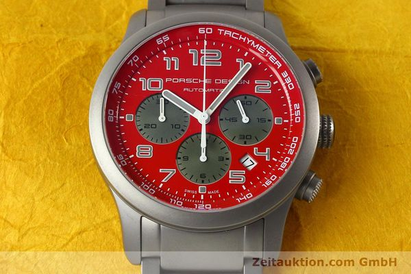 Used luxury watch Porsche Design Dashbord chronograph titanium automatic Kal. ETA 2894-2 Ref. 6612.10/2  | 142580 15