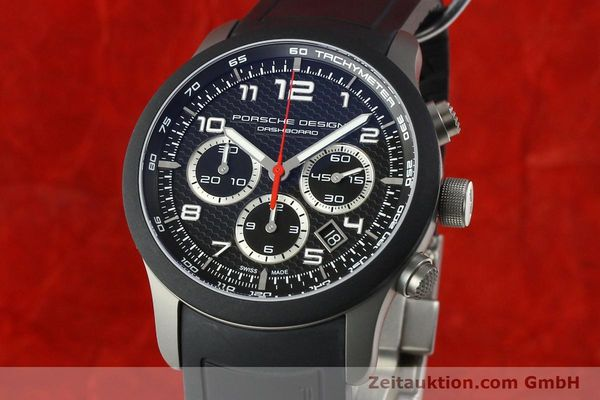 Used luxury watch Porsche Design Dashbord chronograph titanium automatic Kal. ETA 2894-2 Ref. 6612.15/3  | 142583 04