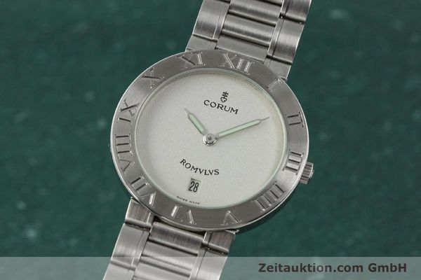 Used luxury watch Corum Romulus steel quartz Kal. ETA 255441 Ref. 43.703.20V400  | 142589 04