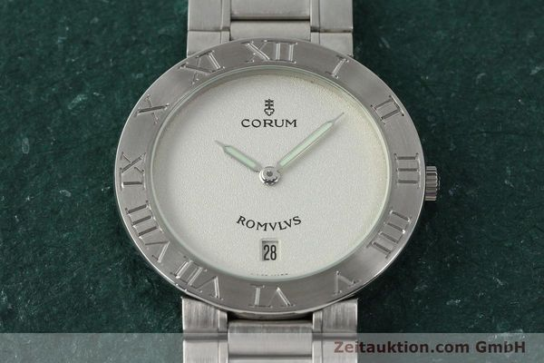 Used luxury watch Corum Romulus steel quartz Kal. ETA 255441 Ref. 43.703.20V400  | 142589 14