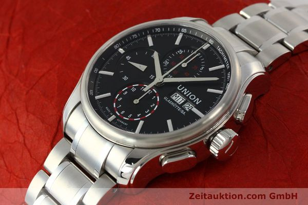 Used luxury watch Union Glashütte Viro chronograph steel automatic Kal. U7750 Ref. D001.414A  | 142590 01