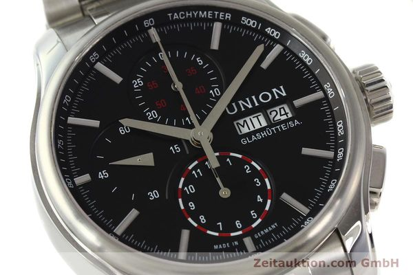 Used luxury watch Union Glashütte Viro chronograph steel automatic Kal. U7750 Ref. D001.414A  | 142590 02