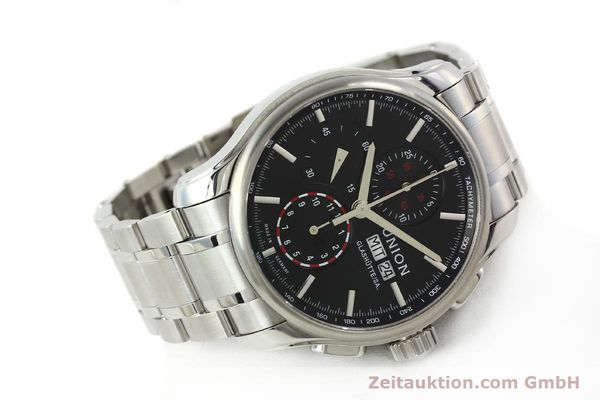 Used luxury watch Union Glashütte Viro chronograph steel automatic Kal. U7750 Ref. D001.414A  | 142590 03