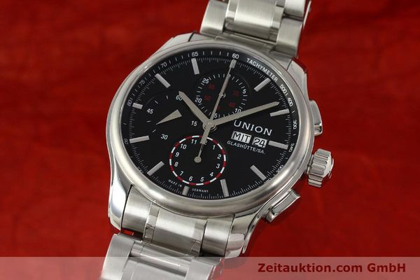 Used luxury watch Union Glashütte Viro chronograph steel automatic Kal. U7750 Ref. D001.414A  | 142590 04