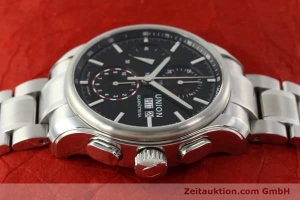 Used luxury watch Union Glashütte Viro chronograph steel automatic Kal. U7750 Ref. D001.414A  | 142590 05