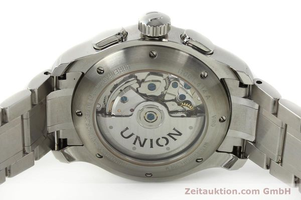 Used luxury watch Union Glashütte Viro chronograph steel automatic Kal. U7750 Ref. D001.414A  | 142590 09
