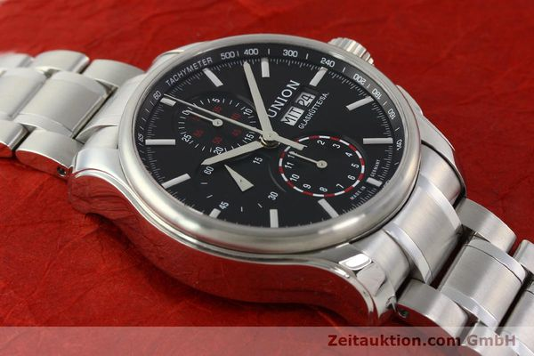 Used luxury watch Union Glashütte Viro chronograph steel automatic Kal. U7750 Ref. D001.414A  | 142590 15