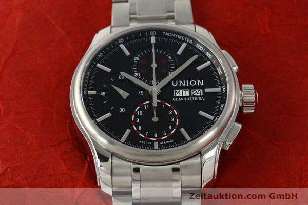 Used luxury watch Union Glashütte Viro chronograph steel automatic Kal. U7750 Ref. D001.414A  | 142590 16