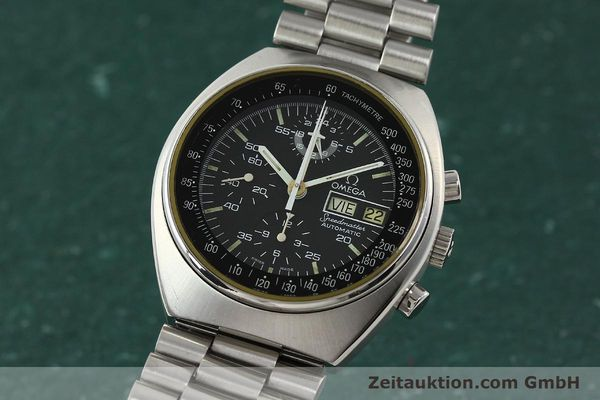 Used luxury watch Omega Speedmaster chronograph steel automatic Kal. 1045  | 142592 04