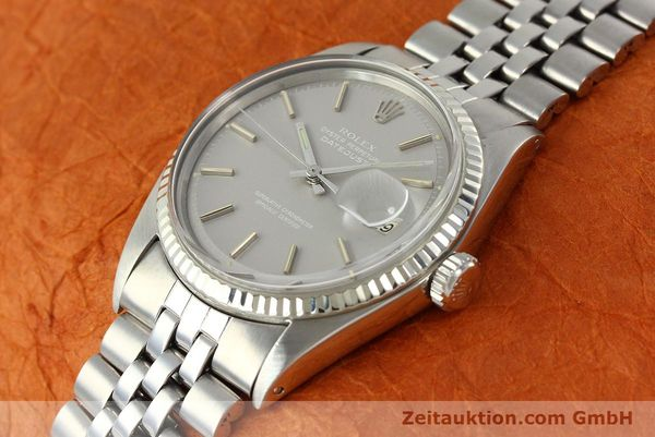 Used luxury watch Rolex Datejust steel / white gold automatic Kal. 1570 Ref. 1601  | 142597 01
